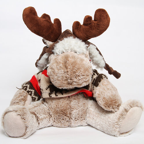 Moose Stuffie with Hat & Sweater