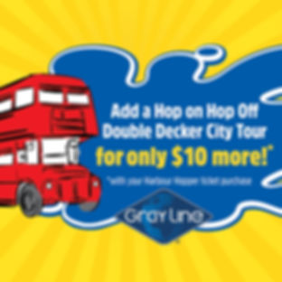 Hop on Hop Off City Tour for only $10 (with Harbour Hopper Ticket Purchase)