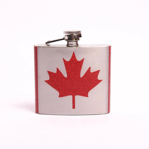 Maple Leaf Flask