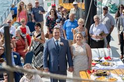 Liz & Rob, married on the Tall Ship Silva