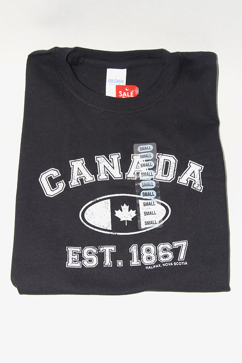 Canada Est. Oval Black Youth Tee