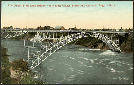 The Upper Steel Arch Bridge connecting the USA and Canada