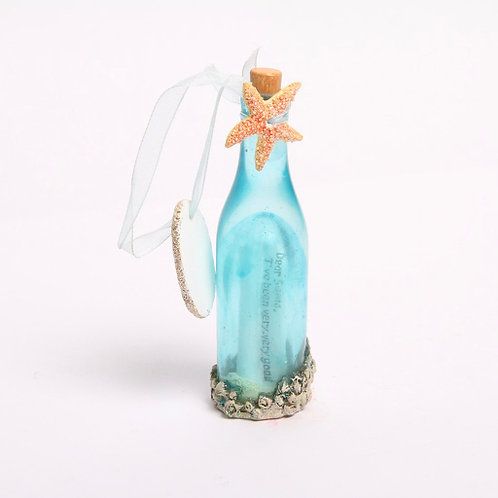 Message in a Bottle Christmas Ornament