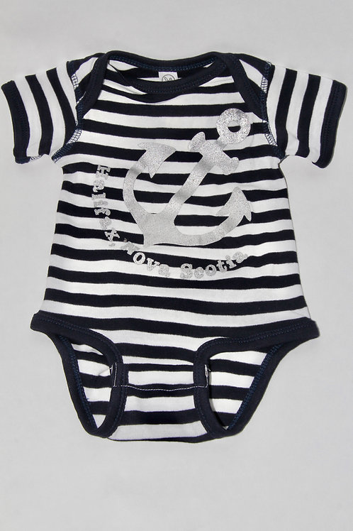 Angles Anchor Striped Onesie