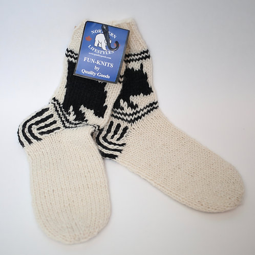 Hand Knitted Wool Socks Medium (9-12)