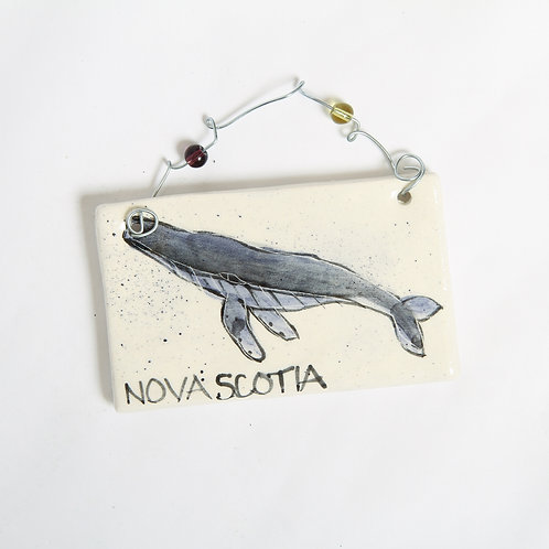Handmade Ceramic Ornament with Whale