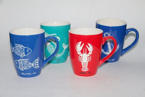 Nautical Etched Mug