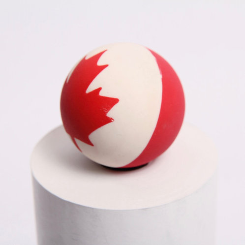 Rubber Ball with Canada Flag