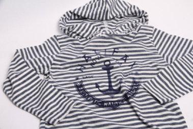 Kid's Hooded Striped Shirt