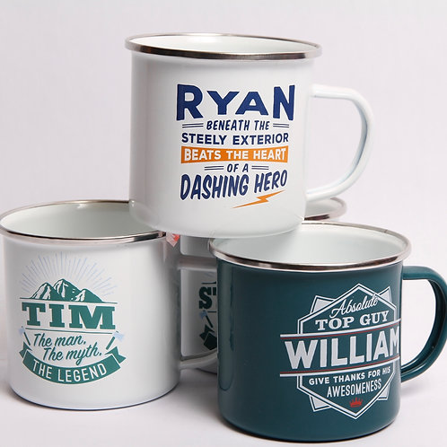 Personalized Tin Mug