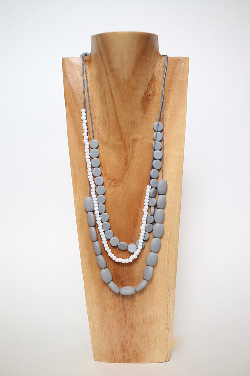 Resin and Glass Bead Necklace
