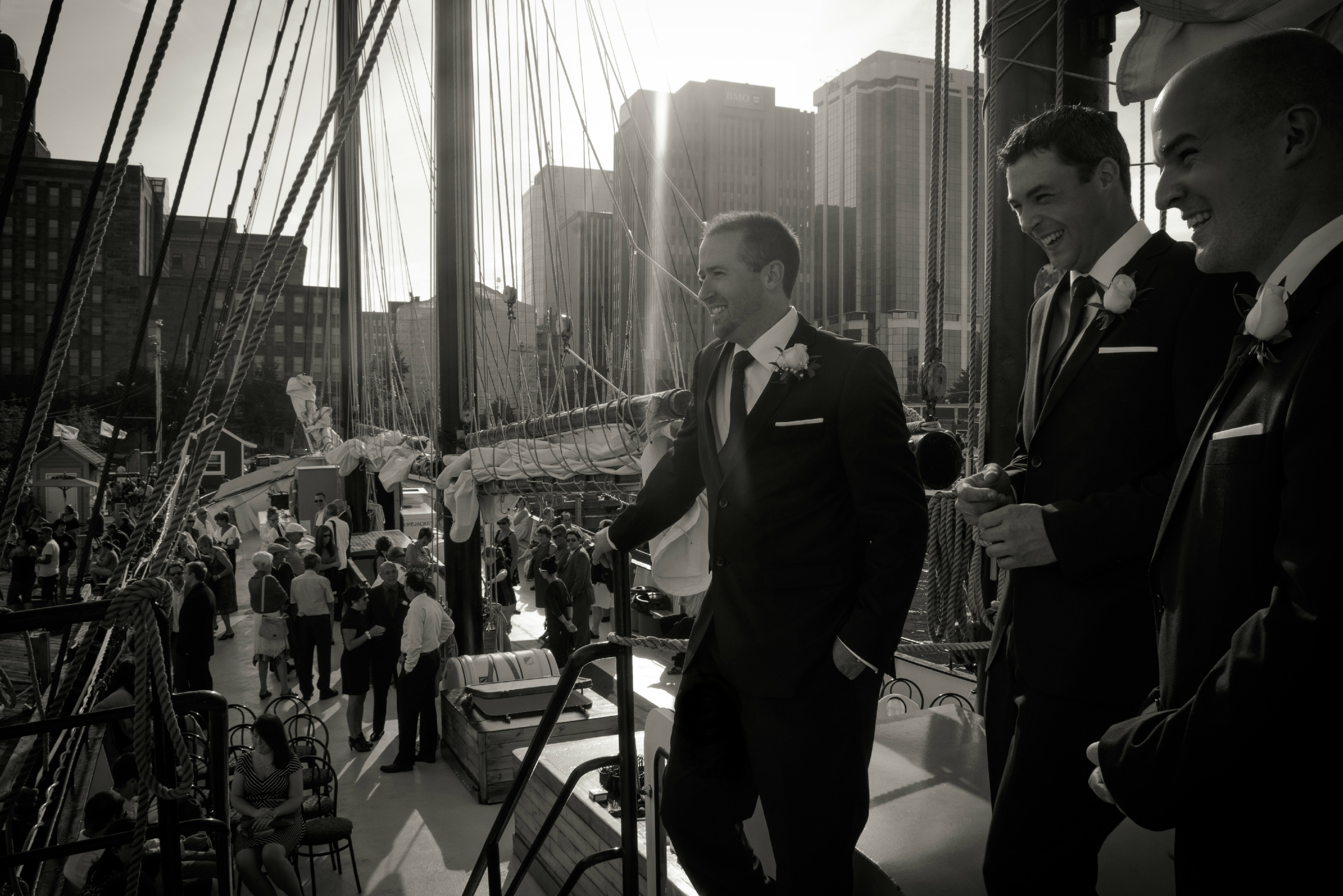 Whitney & Breton married on the Tall Ship Silva