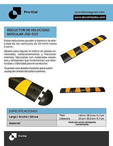 Ficha Tecnica Reductor de Velocidad JSD-023