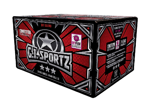G.I. SPORTZ 3 STAR 2,000 PAINTBALLS