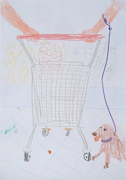 Henri Haake Malerei Maler painting Kunst art Kunstmarkt Künstler artist artfair zeitgenössisch contemporary collector Sammler artcollector Berlin Kreuzberg Lübeck emerging artist emergingart figurative henrihaake artmarket upcoming collector Sammler artcontemporain newfigurative Studio einkaufswagen supermarkt supermarket dog hund