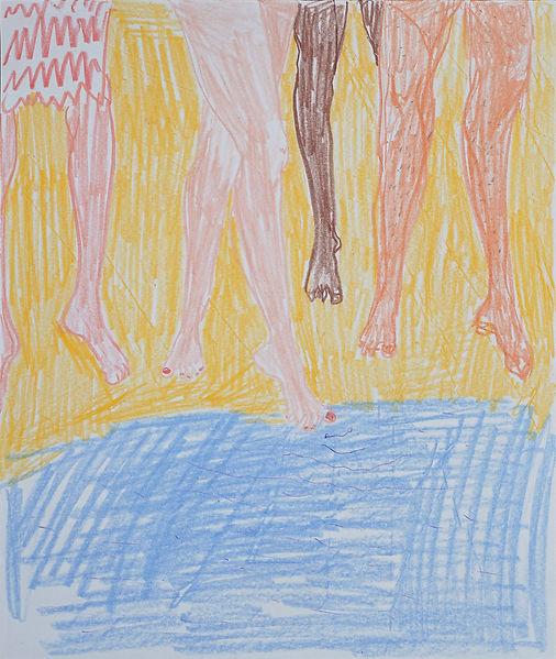 Henri Haake Malerei Maler painting Kunst art Kunstmarkt Künstler artist artfair zeitgenössisch contemporary collector Sammler artcollector Berlin Kreuzberg Lübeck emerging artist emergingart figurative henrihaake artmarket upcoming collector Sammler artcontemporain newfigurative Studio Anfühler Zeichnung drawing legs beine sea Meer Strand beach Summer ocean tester testing