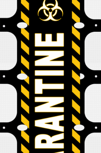 Self Quarantine RV Ladder Banner