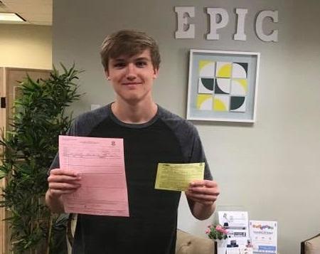 John has his drivers license