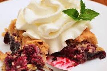 Nana's Dumpcake (blueberry,cherry)