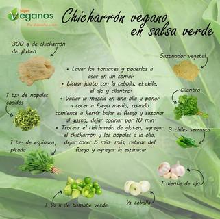 Chicharron vegano en salsa verde