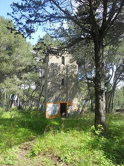 A torre de água na Quinta dos Ingleses