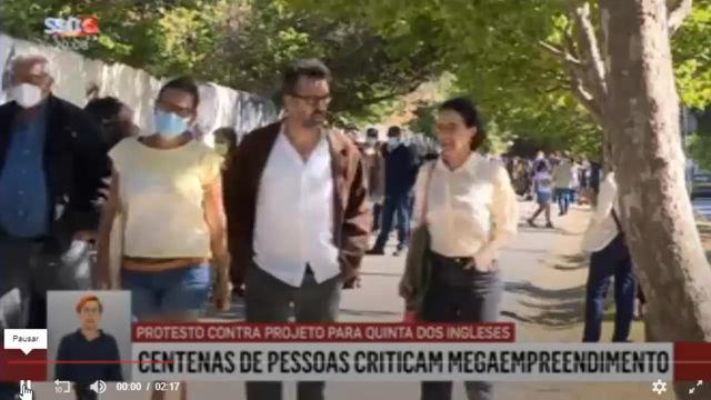 O cordão humano de 5 de junho no noticiário da SIC