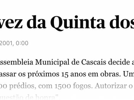 """Notícia de 2001 do Jornal Público: """"A hora e a vez da Quinta dos Ingleses"""""""