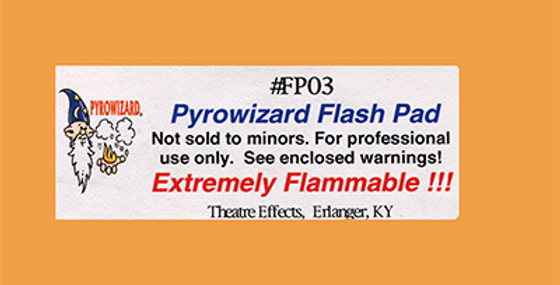 """Theatre Effects Pyrowizard™ Flash Paper Sheets - 2""""x3"""" 20 sheets"""