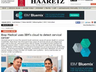 Haaretz writes about Biop Medical