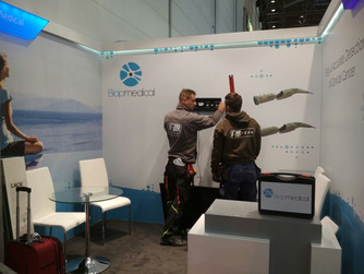 Getting our booth ready at Medica  Trade fair opens 13th Nov. Visit us at Hall 16 /G41