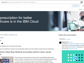 IBM shares news about Biop on company website