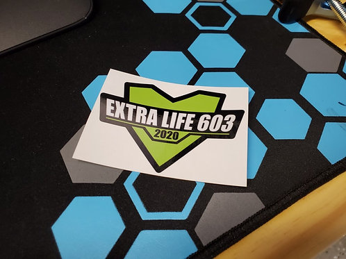 Extra Life 603 Decal