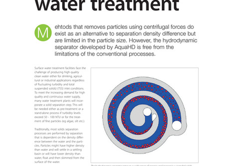 Article: AqauHD - Treating Surface Water, Filtration & Separation Magazine