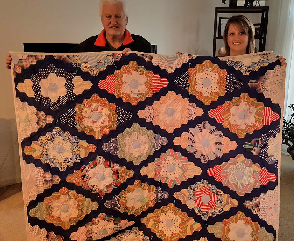 quilt, family heirloom, vintage, repair, quilt top