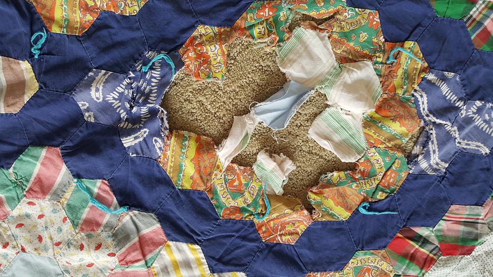 Vintage quilt repair