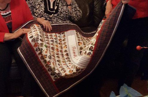 Heart quilt - family is life