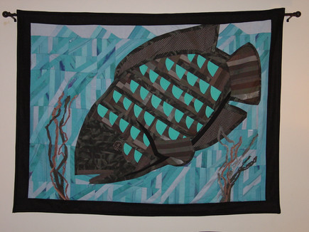 Quilted art fish