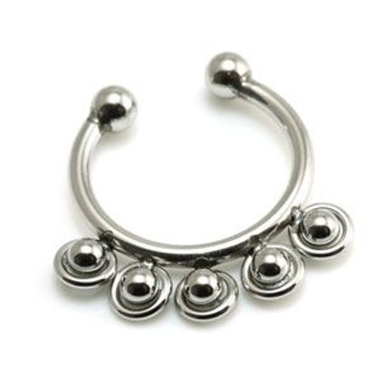 Fake Steel Ball Septum Ring