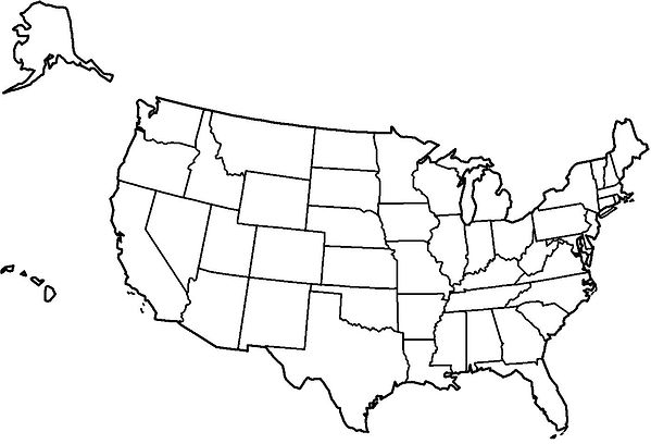 noir-et-blanc-la-carte-des-États-unis.jp