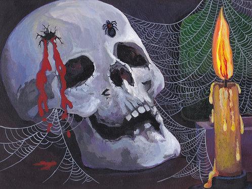 Skull & spider