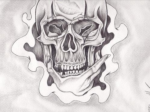 Skull B&W