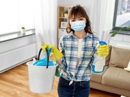 Limpeza e Desinfecção de ambientes domésticos com pessoas com síndrome gripal
