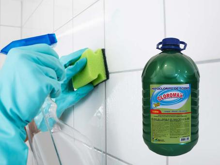 Limpando o rejunte do banheiro