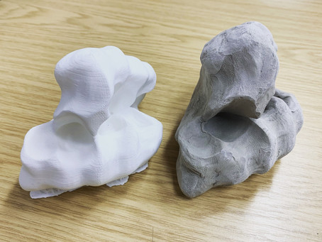 3D Print of a 3D Scan of a Clay Form