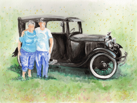Mom & Dad with Model A