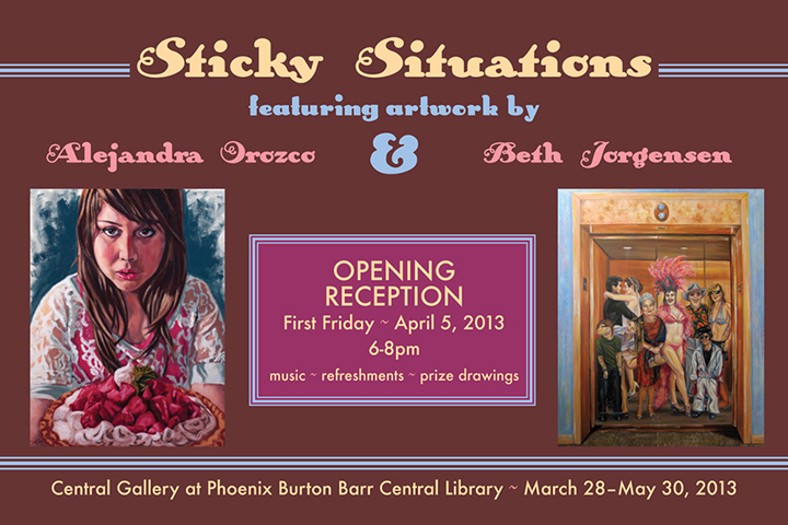 Sticky Situations postcard, 2013