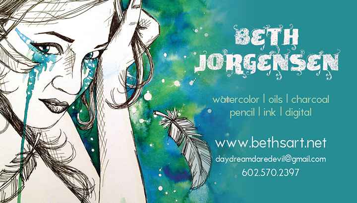 Beth Jorgensen business card, 2013