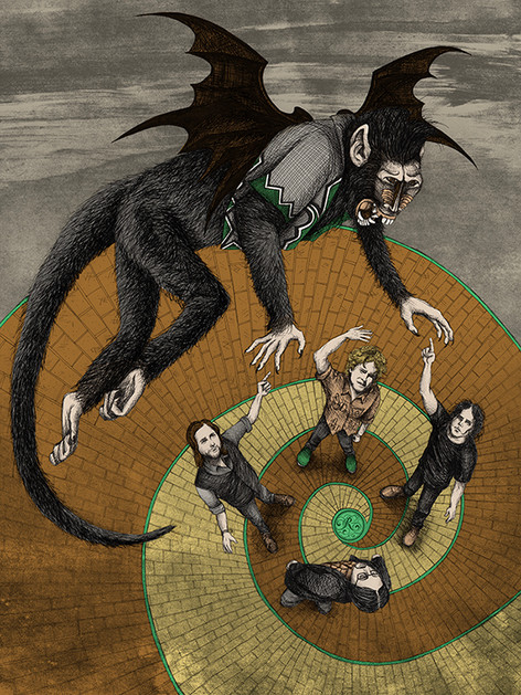 The Raconteurs on the Yellow Brick Road