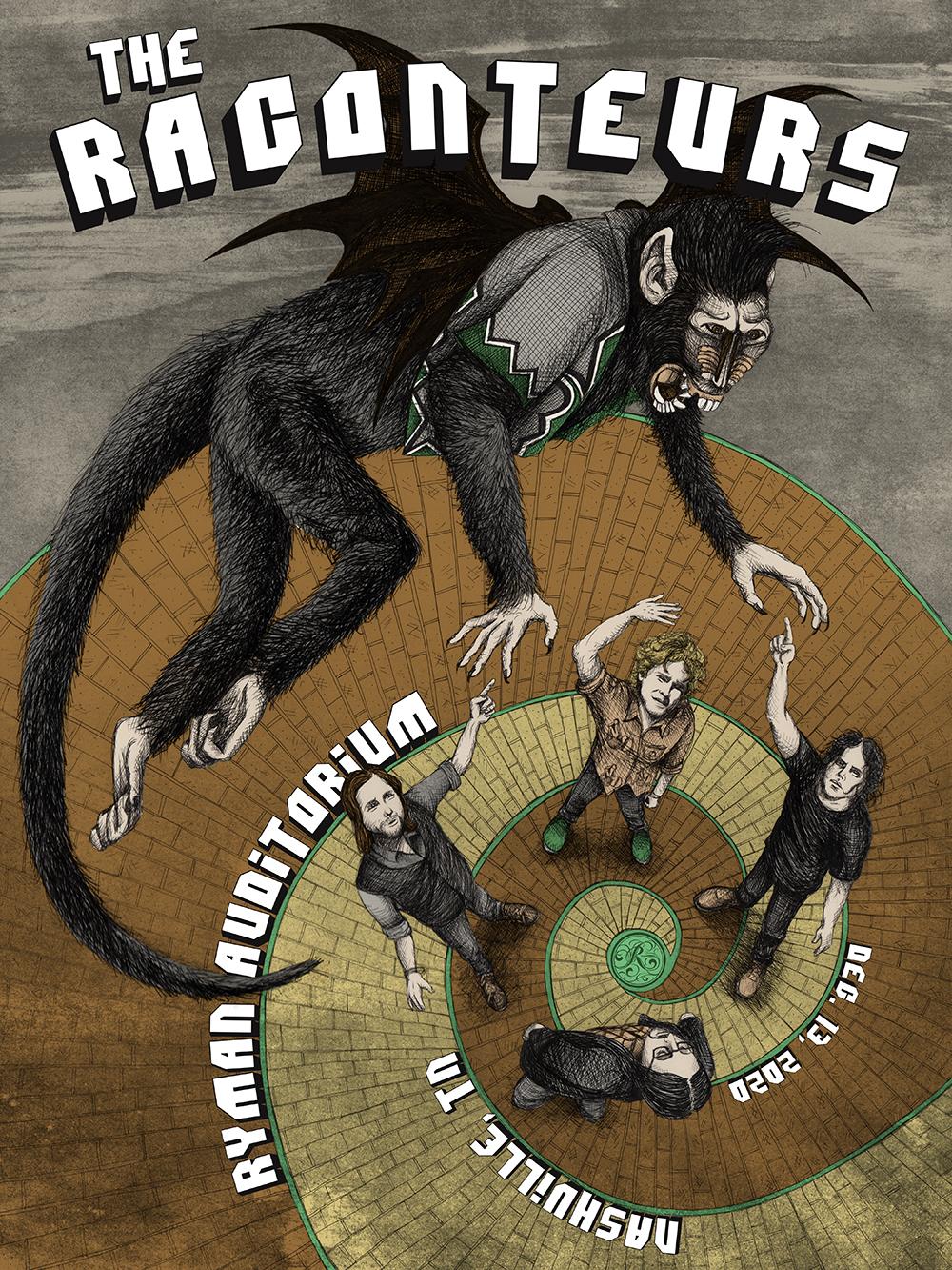 Raconteurs Tours Poster