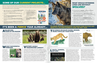 Wyoming Wildlife Advocates Newsletter (inside)